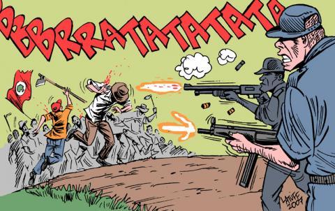 Massacre de Carajás por Carlos Latuff